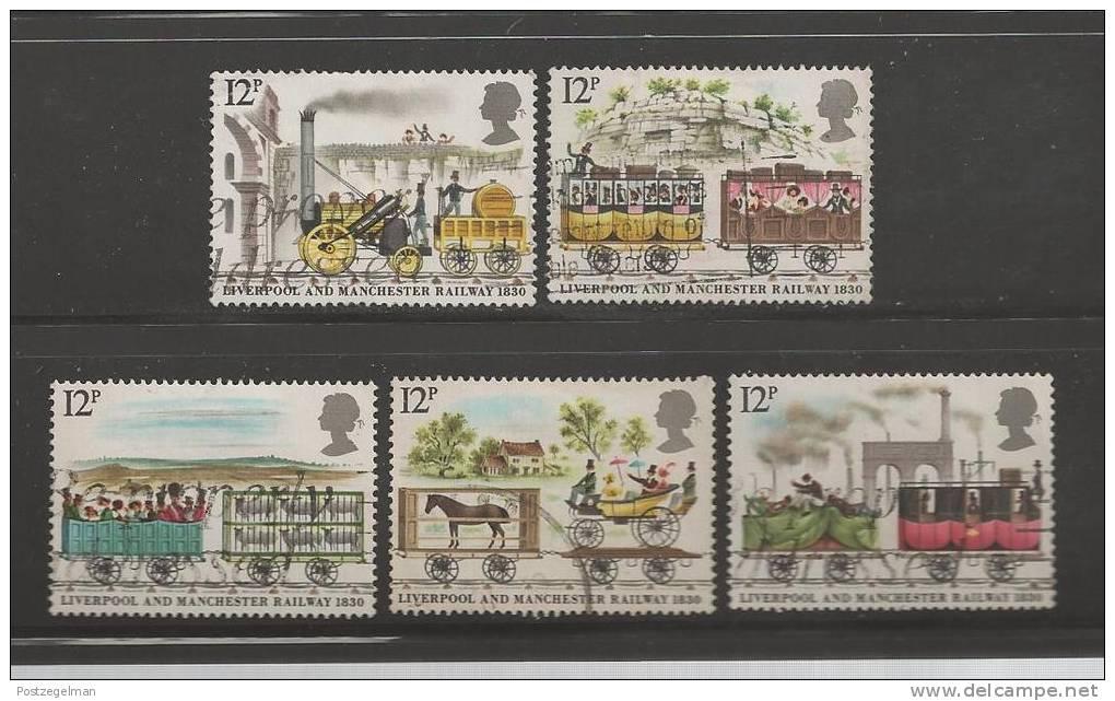 UK 1980 Used Stamp(s) Liverpool-Manchester Railway Nrs. 830-834 - 1952-.... (Elizabeth II)
