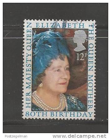UK 1980 Used Stamp(s) The Queen Mother Nr. 845 - 1952-.... (Elizabeth II)