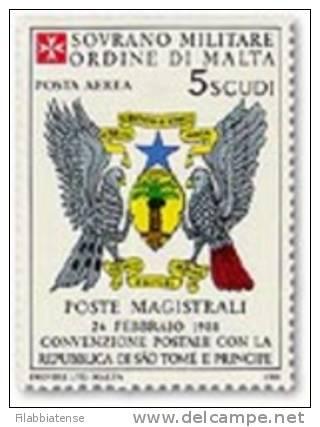 1988 - Sovrano Militare Ordine Di Malta PA 38 Stemma - Francobolli