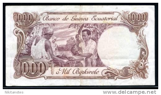 Equatorial Guinea P 16 P16, 1000 Bipkwele 1979 F+ - Guinea Ecuatorial