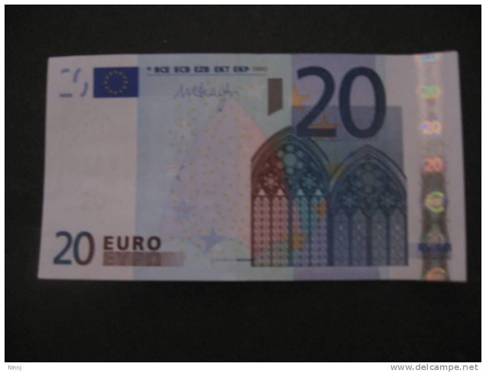 Italia 2002  €. 20 M. Draghi  J029D3 - Serie S30274253971 Nuova - EURO