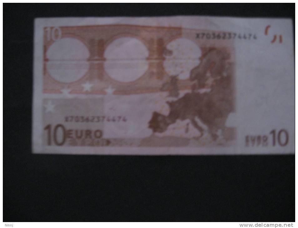 Germania  €. 10 M. Draghi  - P016I3 - Serie X70362374474 Poco Circolata - EURO