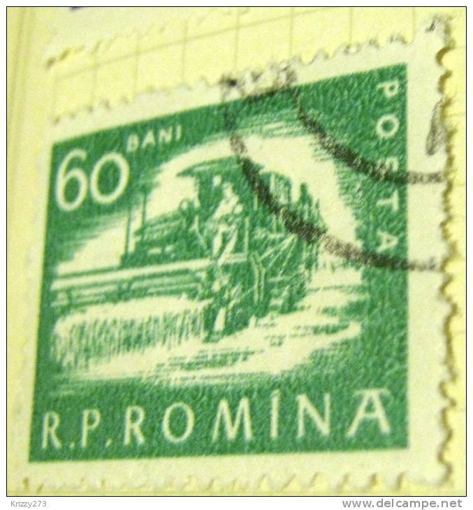 Romania 1960 Combine Harvester 60b - Used - Oblitérés