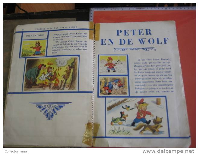 1 Full Compl Set 133 Small & 10 Big, 5 Stories Disneyland, De Beukelaer, Peter &  Wolf, Donkey, In Original Album C1950 - Other