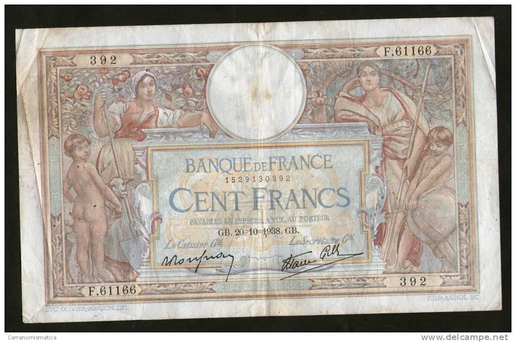 FRANCE - BANQUE De FRANCE - 100 FRANCS  (GB. 20 - 10 - 1938)  LUC OLIVER MERSON - 100 F 1908-1939 ''Luc Olivier Merson''
