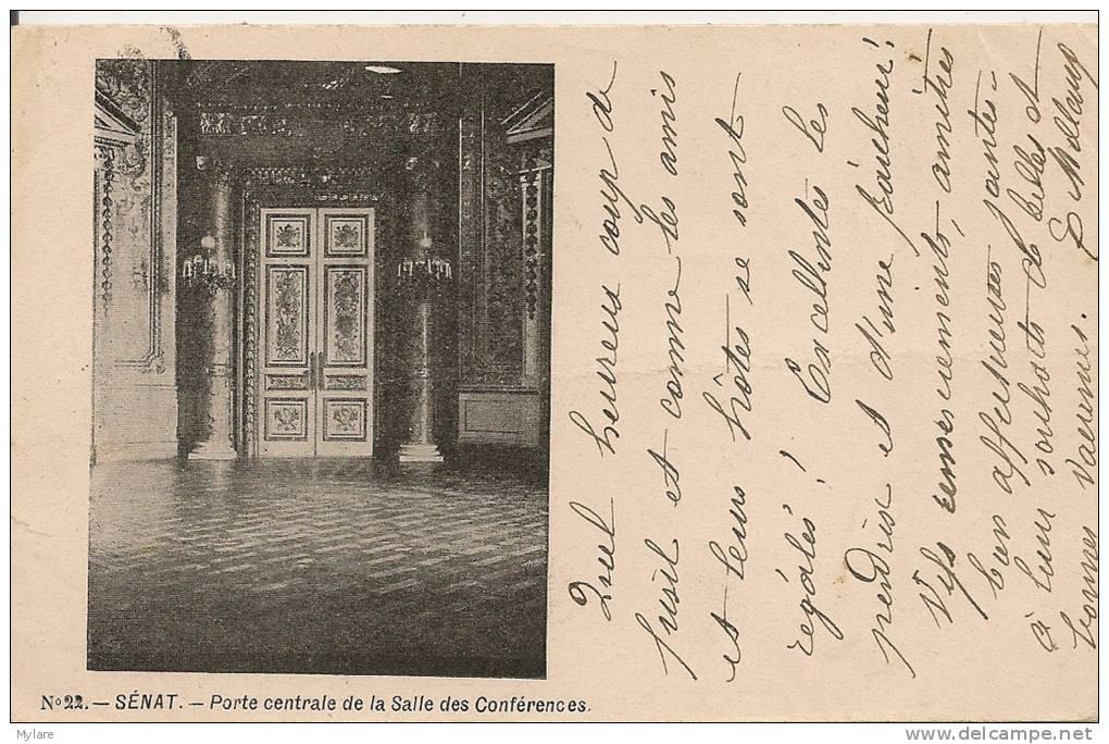 Cpa Paris6 Sénat Porte Salle Des Conférences - Arrondissement: 06