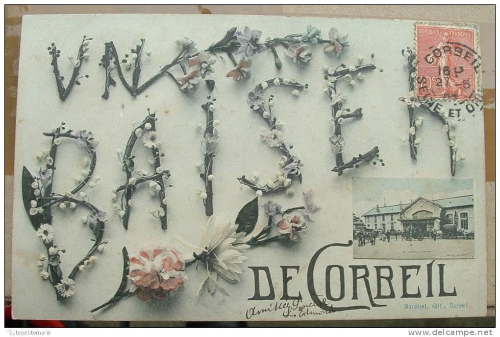 UN BAISER DE Corbeil - Carte Fantaisie - Corbeil Essonnes