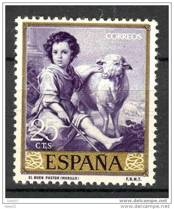 ES1270-1975TAMO.España.Spain.Espagne.MURILLO.El  Buen Pastor.1960.  ( Ed 1270**),sin Charnela. LUJO - Sellos