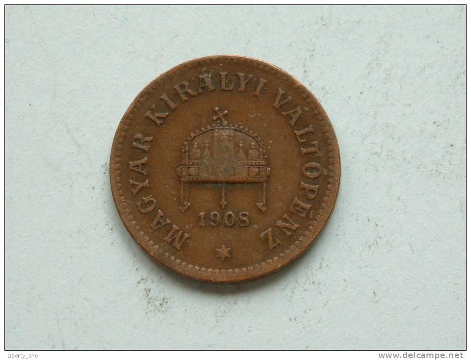 1908 - 2 FILLER / KM 481 ( For Grade , Please See Photo ) ! - Hongrie