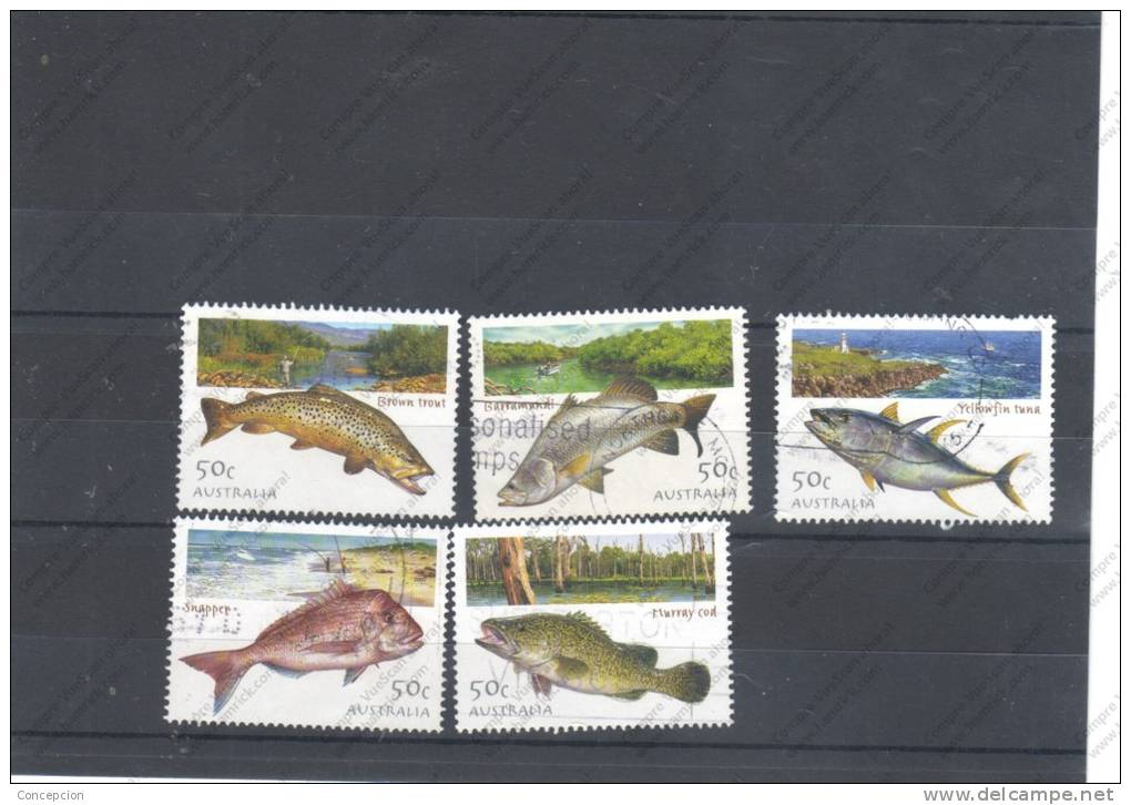 SELLOS DE AUSTRALIA N IVER  2099/103  USADO - Fishes