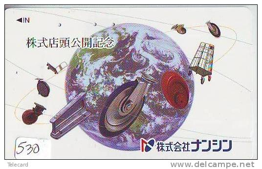 Télécarte Japon MAP * Carte Du Monde * GLOBE (530) Géographie * Mappemonde * Japan Phonecard * Telefonkarte * AARDBOL - Espace