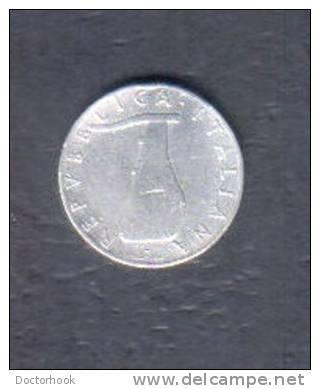 ITALY    5  LIRE 1954 (KM # 92) - 1946-… : Republic