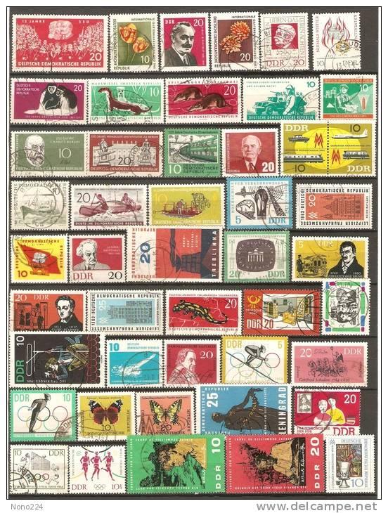 52 Timbres D´Allemagne De 1961/65 - [6] République Démocratique