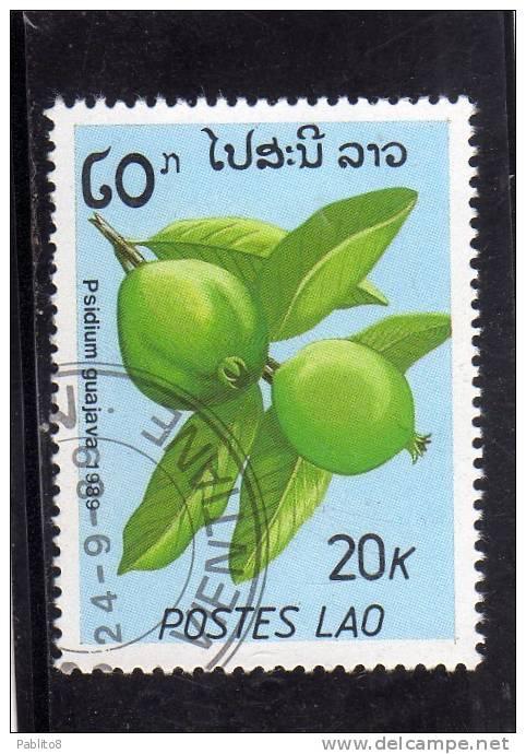 LAOS LAO 1989 FRUITS PLANTS PIANTE DA FRUTTO PSIDIUM GUAJAVA FRUIT - FRUTTA USED - Laos