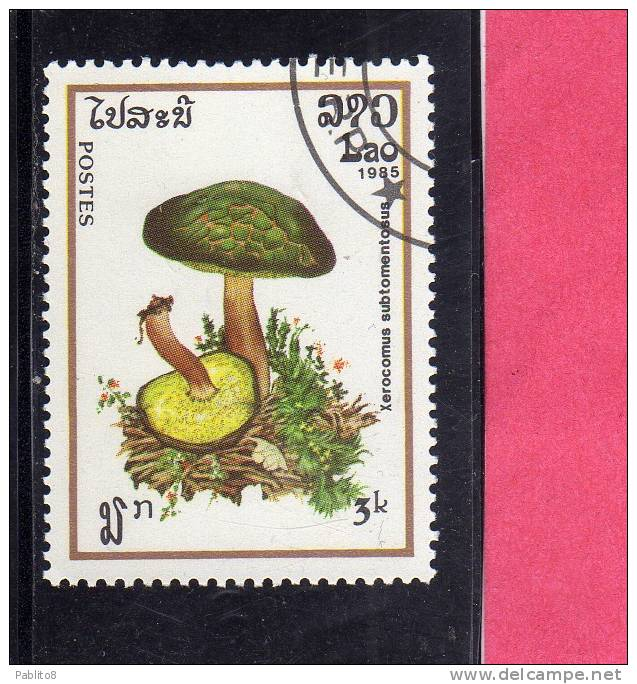 LAOS LAO 1985 MUSHROOMS FUNGHI XEROCOMUS SUBTOMENTOSUS USED - Laos