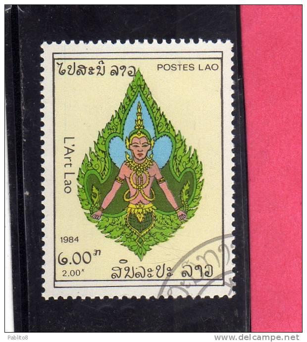 LAOS LAO 1984 ART DESIGN - ARTE  USED - Laos