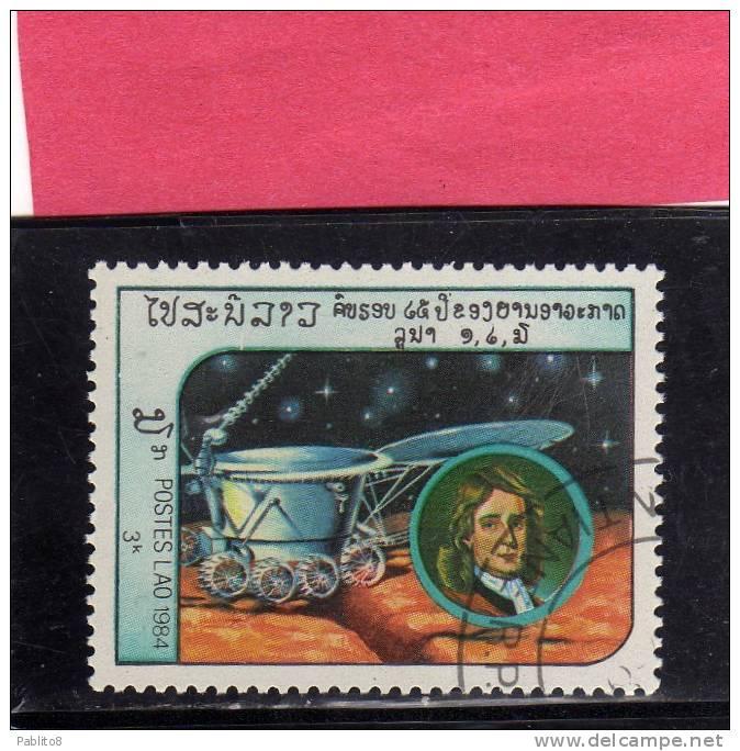 LAOS LAO 1984 SPACE EXPLORATION SPACESHIP ASTRONAUTS ESPLORAZIONE SPAZIO ASTRONAUTI NAVICELLA USED - Laos