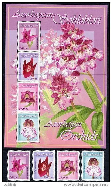 AZERBAIJAN 2005 Orchids (4v + Block) MNH / ** - Aserbaidschan
