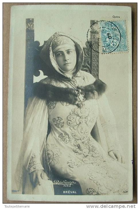 Carte Artiste Feminine Epoque 1900 Bréval Reutlinger - Artistes