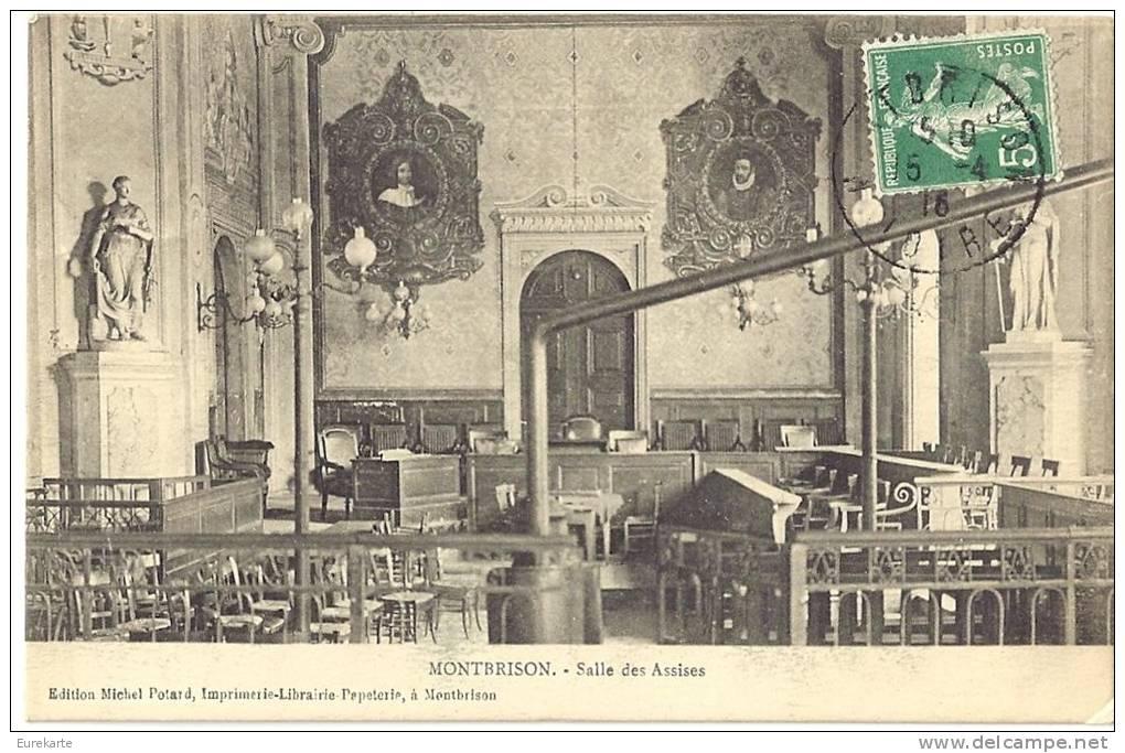 LOIRE 42.MONTBRISON LOT DE 2 CARTES SALLE DES ASSISES - Montbrison