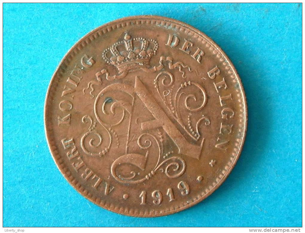 2 CENT VL - 1919 (316) ! - 1909-1934: Albert I