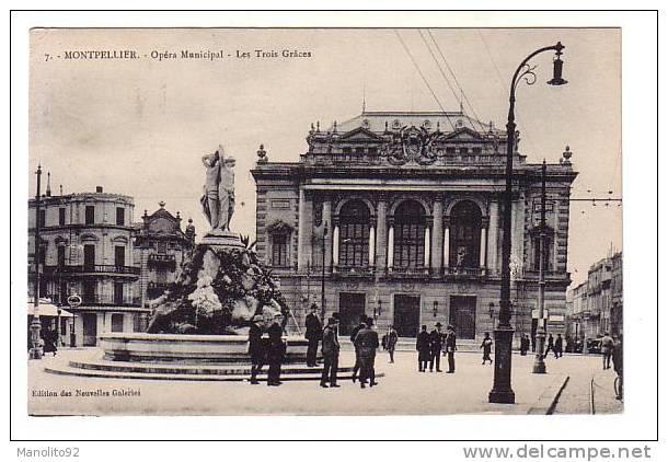 CPA 34 - MONTPELLIER - Opéra Municipal - Les Trois Grâces - Montpellier