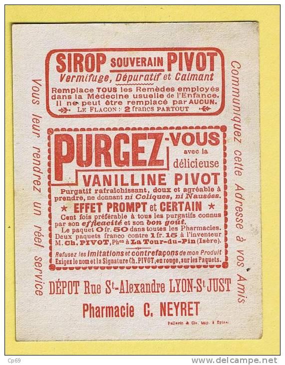 IMAGE - SIROP SOUVERAIN PIVOT - PHARMACIE C. NEYRET - JE VOUDRAIS ME PLAINDRE A MA MAÎTRESSE ET A MON ECT...... - COQ - Vieux Papiers
