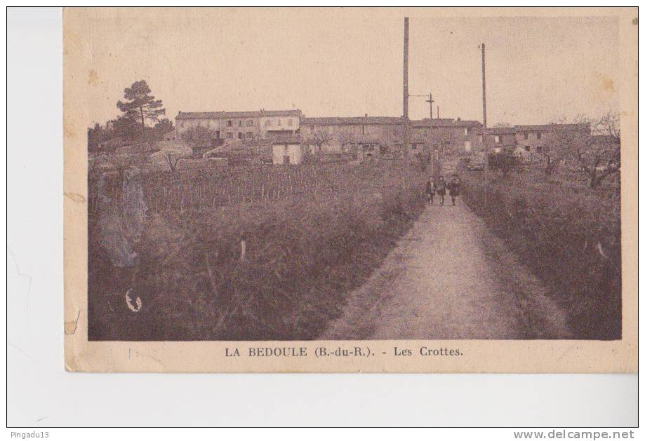 La Bédoule Roquefort Carte Peu Courante Quartier Les Crottes - Frankrijk