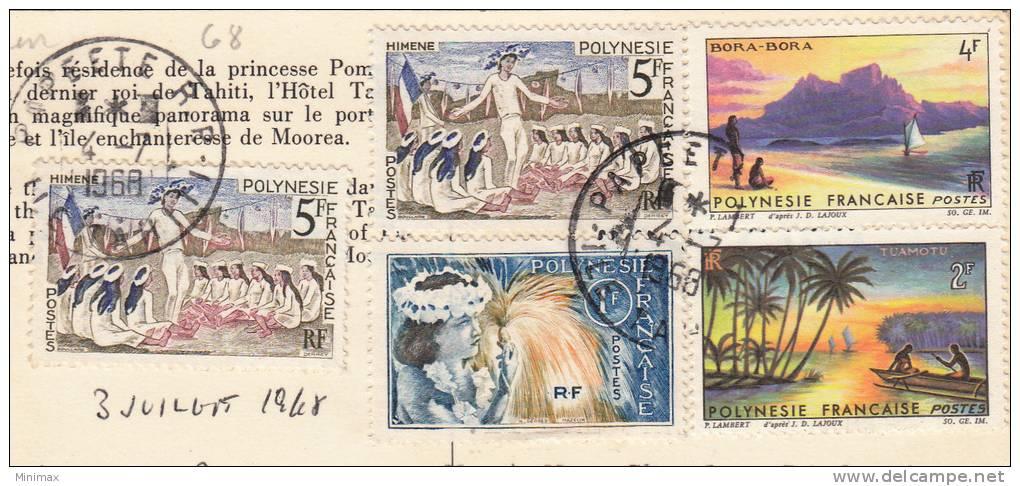 Tahiti, 1968, Timbres Dos - Tahiti