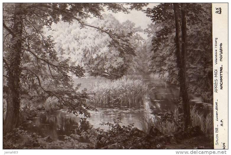 LUCIEN BIVA APRES MIDI VILLENEUVE L ETANG SALON 1912 ( Lot 30A ) - Paintings