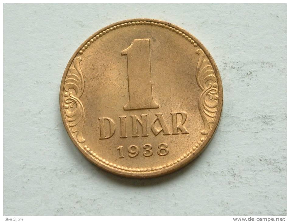 1938 - 1 DINAR / KM 19 ( For Grade, Please See Photo ) ! - Joegoslavië