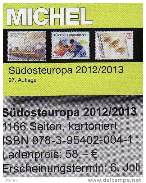 MICHEL Südosteuropa Band 4 Katalog 2013 Neu 58€ Stamp Southest-Europa Bulgaria Zypern Kreta Griechenland Rumänien Türkei - Catalogi