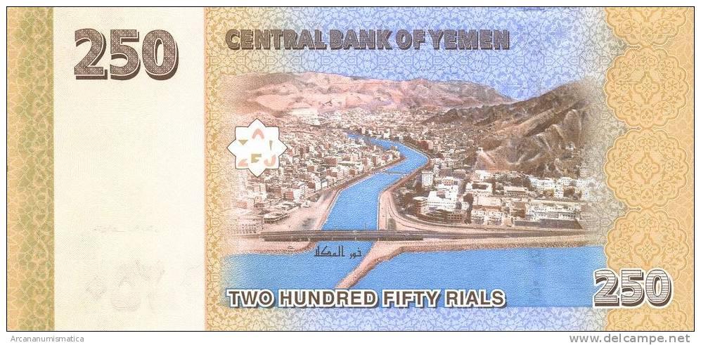 YEMEN ARAB REPUBLIC  250 RIALS  2.009   SC/PLANCHA      DL-7289 - Yemen