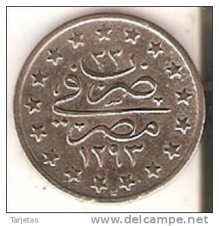MONEDA DE PLATA DE EGIPTO DE 1 QUIRSH DEL AÑO 1293 (COIN) SILVER-ARGENT - Egipto