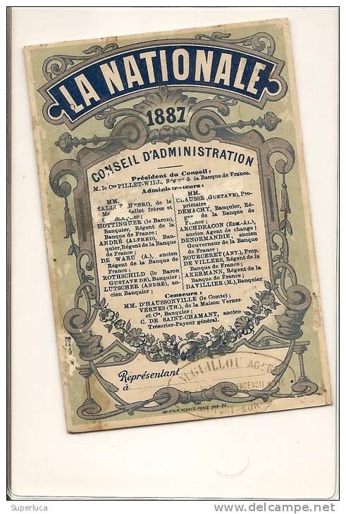 I-CALENDARIO TASCABILE LA NATIONALE ASSURANCES 1887 - Formato Piccolo : ...-1900