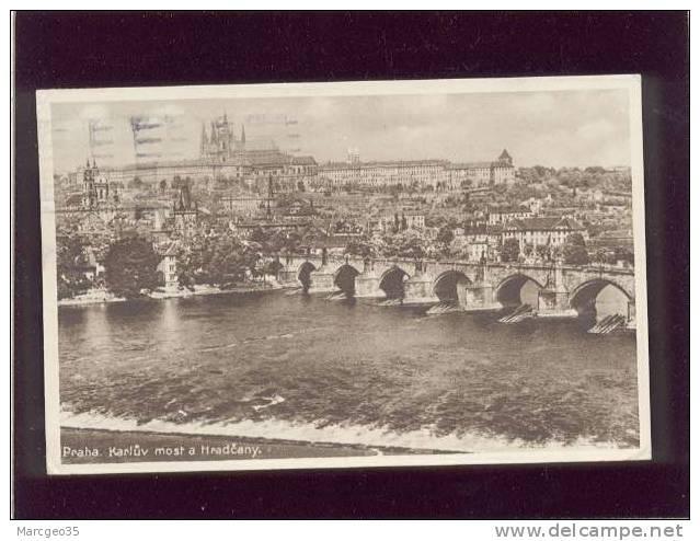Praha Prague Pont Charles & Hradcany édit.JKO N° B 1/30 , Timbre - Tschechische Republik