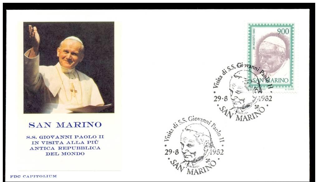SAN MARINO * FDC POPE JOHN PAUL II * 1982 - FDC