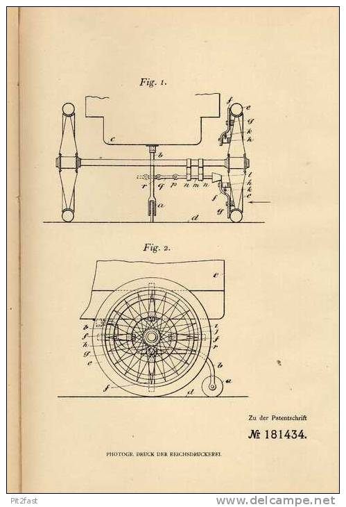 Original Patentschrift - F. Ripley In Hanley Castle Und Malvern Link , 1906 , Gleitschutz Für Fahrzeuge , Automobile !!! - Cars
