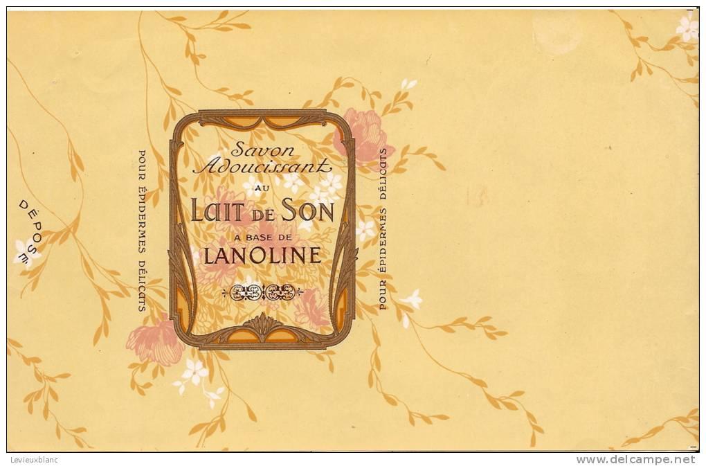 Papier Emballage Savon Parfumé/Lanoline/Lait De Son/vers 1930    PARF23 - Parfums & Beauté