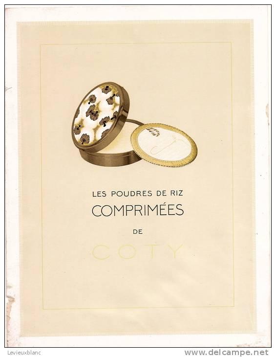 Grande Carte Publicitaire Parfumée/Poudres De Riz/COTY/vers 1920   PARF28 - Parfums & Beauté