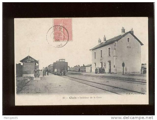 36 Cluis Intérieur De La Gare édit.BF N° 20 Animée Train Chemin De Fer - France