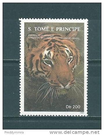 St. Thomas Et Prince:  1131 **  Tigre - Big Cats (cats Of Prey)