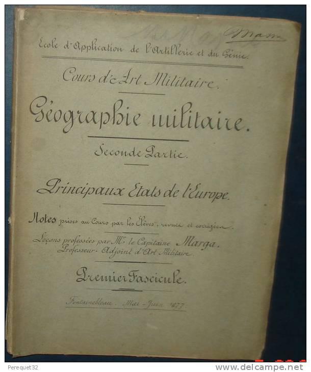 Ecole D'application De L'Artillerie Et Du Génie.Geographie Militaire.342 Pages. - Libri