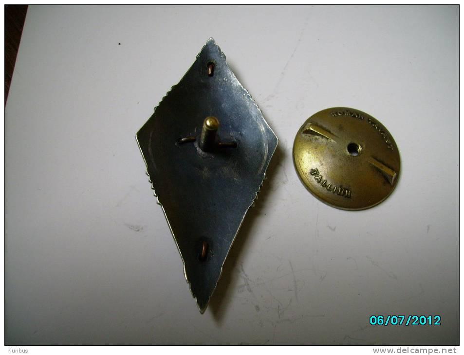ESTONIA   Pre- WW II  Military  Badge  DEFENCE LEAGUE LÄÄNEMAA  BATTALLION  BADGE , LIGHTHOUSE - Militaria