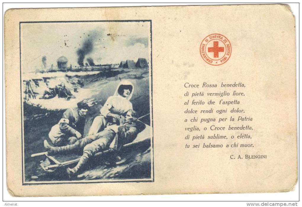ENG185 - CROCE ROSSA , Cartolina Da Massiola 21/5/1916. Poesia Del Blengini - Croce Rossa