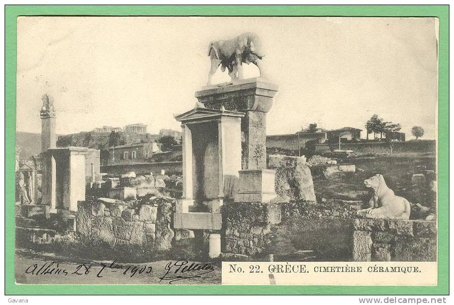 GRECE - Cimetière Céramique - Griechenland