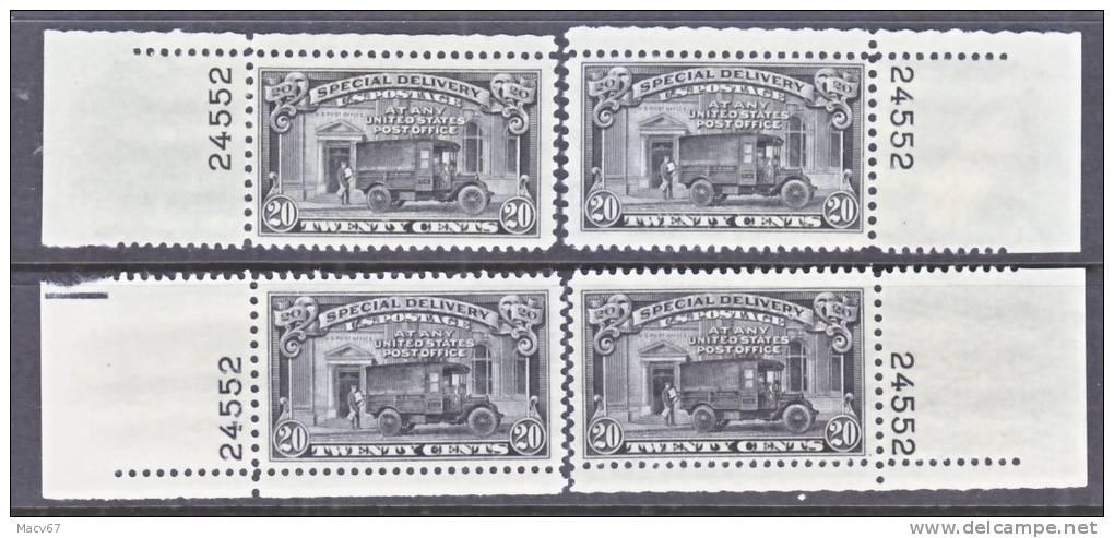 U.S. E19 X 4  **   PLATE SINGLES  1951 Issue - Express & Recommandés
