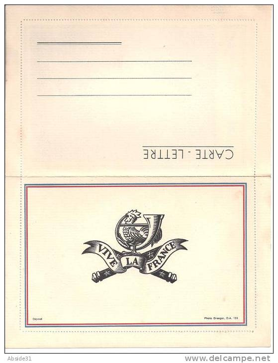 Carte Lettre Du Maréchal Pétain - à L´intérieur Portrait Du Maréchal - Documents Historiques