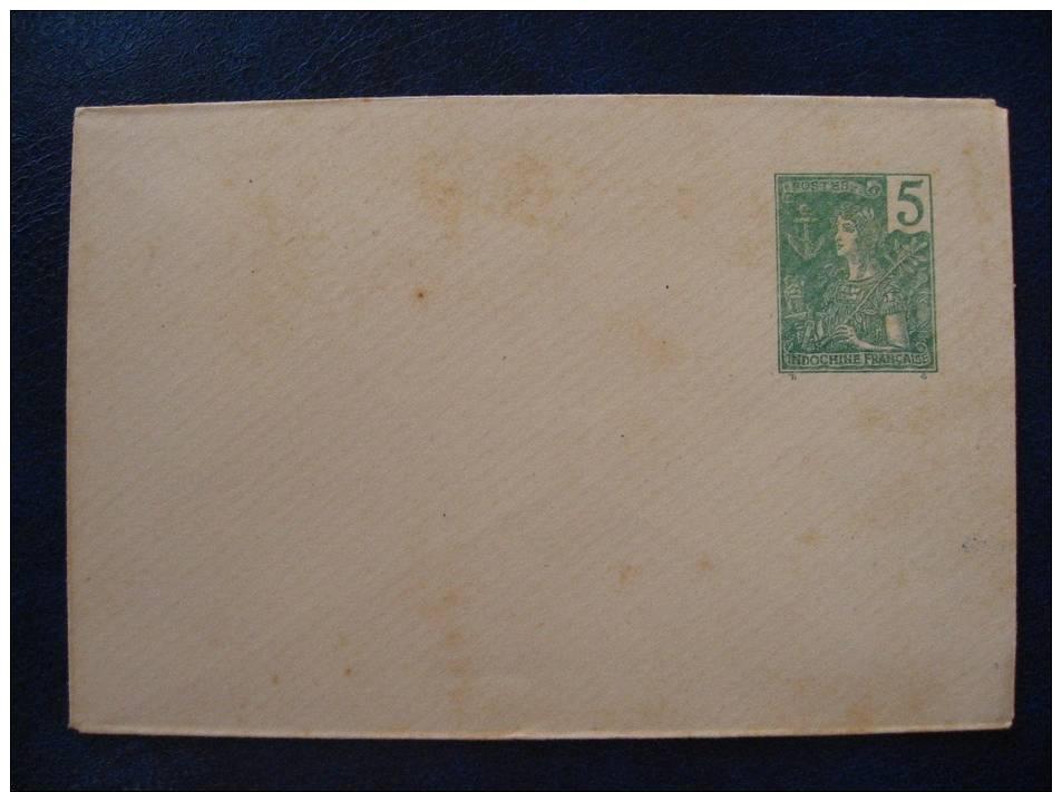 INDOCHINE - ENTIER POSTAL NEUF** LETTRE TYPE GRASSET 5c Vert - Briefe U. Dokumente