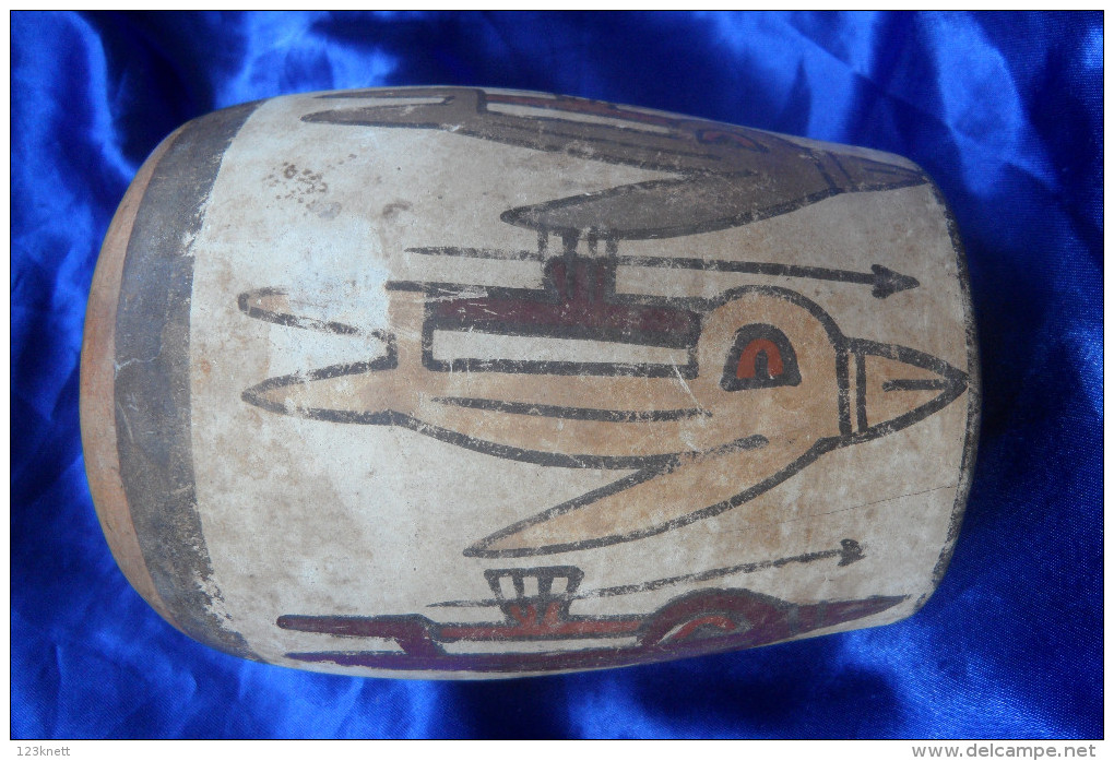 Nazca Dynastie - Vase ( Guter Zustand ) Echt - Archeologie